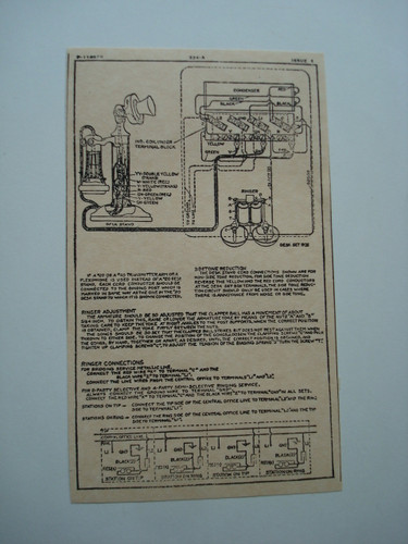 Western Electric 334a Ringer Subset Box Wiring Diagram Glue On