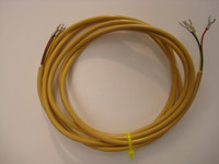 Yellow   round line cord for Western Electric and Automatic Electric Princess and 500 series telephones NOS
