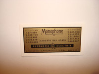Automatic Electric Monophone water decal