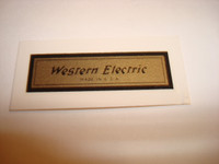 Western Electric water decal