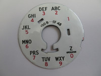 Western Electric Porcelain Dial plate 150B  with Z