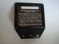 3 slot payphone Top Flag sign 1B Black for older payphones