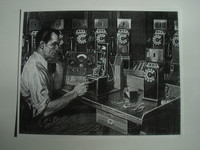 3 slot payphone repair man picture