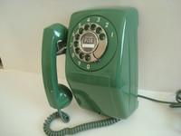 Automatic Electric wall telephone / AE90 in rare Green color Like New