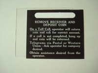 3 slot payphone middle direction card