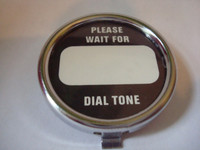 Western Electric telephone dial center set CHROME