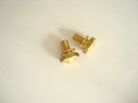 Hex screws for Bells Wood wall phones and ringer box 1 set  Brass Western Electric