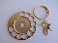 Automaric Electric fingerwheel set in 24KT gold  fingerstop and dial card ring