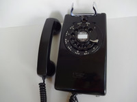 Western Electric 554 wall telephone 1950s Black