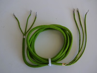 Western Electric Green Cloth Covered handset cord Premium