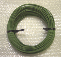 Western Electric green cloth covered solid core wire 20 guage  Sold per ft