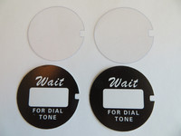 """2  Western Electric """" Script """" dial number cards and 2 Acetate discs"""