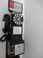 Western Electric 223G payphone with backboard and 685 subset Complete as taken out of service