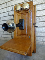 Antique Western Electric Wooden Wall telephone Model 317