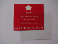 3 slot payphone middle instruction card with plastic