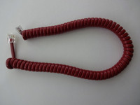 Western Electric Rust Red coil  handset cord modular  Desk / Wall phones