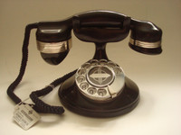 Vintage Rotary Phone,  1A Highboy Monophone, Automatic Electric
