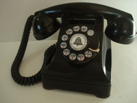 Vintage Western Electric 302 Bakelite Thermoplastic Rotary Telephone