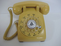 Western Electric 500  Yellow with modular cords