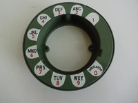Western Electric 233G Daisy dial plate and Shroud  Green