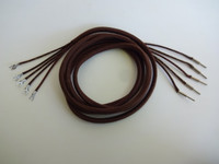 Horn Speaker Cord Cloth covered 5 coductor pin/spade