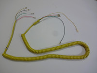 Wall phone handset coil cord Yellow 11 feet hardwire
