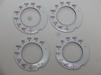 Automatic Electric dial plates NOS   4 plates at a great price