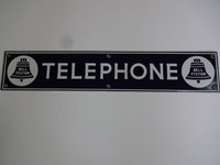 Phone Booth sign Porcelain 1940 Bell Payphone