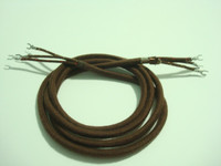 Cloth Woven Handset cord 3 conductor Round