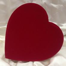 VAL - 1 LB RED VELOUR HEART