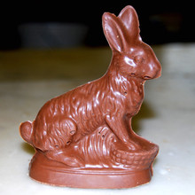 EASTER MOULD - SITTING RABBIT WITH BASKET- SMALL