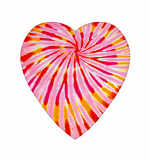 VAL - 8 oz TIE-DYED HEART