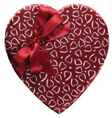 VAL - 1 LB CRIMSON & WHITE HEARTS