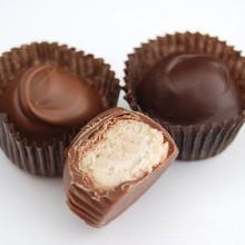 Dark and Milk Chocolate Maple Creams