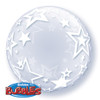 "24"" Deco Bubble Stylish Stars Bubble Balloon"