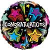 "18"" Congratulations Shooting Stars Mylar Foil Balloon"