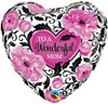 "18"" To A Wonderful Mom Mylar Foil Balloon"