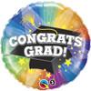"""18"""" Congrats Grad Spotlight Mylar Foil Balloon"""