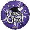 "18"" Congrats Grad Purple Mylar Foil Balloon"