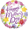 "18"" Cheerful Mother's Day Mylar Foil Balloon"