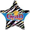 "19"" Grad Zebra Star Mylar Foil Balloon"