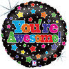 "20"" You're Awesome Stars Mylar Foil Balloon"