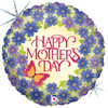 "18"" Mother's Day Violets Mylar Foil Balloon"