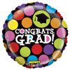 "21"" Mighty Congrats Grad Non-Mylar Foil Balloon"