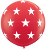 "36"" Big Stars Red  Latex Balloons"