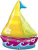 "40"" Sailboat Tropical Shape Mylar Foil Balloon"