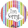 "17"" I'm Sorry Colorful Lines Mylar Foil Balloon"