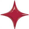 "20"" Ruby Red Starpoint Mylar Foil Balloon"