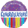 "18"" Congrats Stars & Stripes Mylar Foil Balloon"