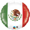"18"" Mexican Flag Mylar Foil Balloon"